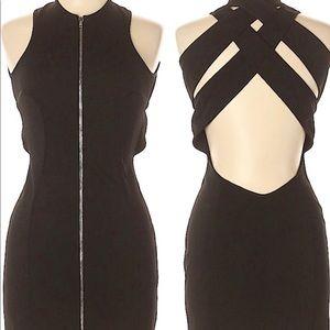 Alexander Wang Size 10 Black Zipper Mini Dress NWT